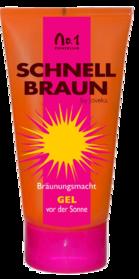 Schnellbraun Gel, fettige Haut Bräunungsverstärker, Solariumkosmetik Linie